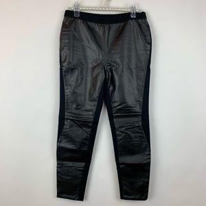 Trouve Black Fuax Leather Pants